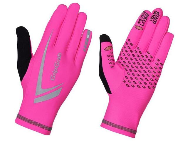 GripGrab Running Expert Hi-Vis Winter Touchscreen Gloves fluo pink
